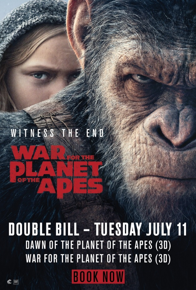 Planet of the Apes 3D Double Bill Poster