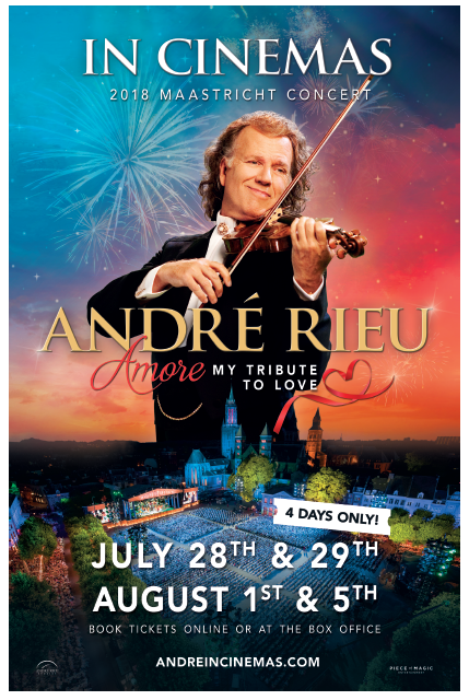 André Rieu 2018: Amore - My Tribute to Love Poster