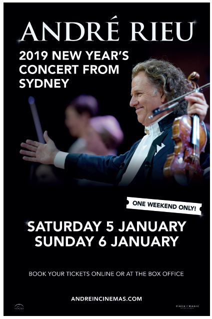 André Rieu 2019 New Year's Concert from Sydney! Poster