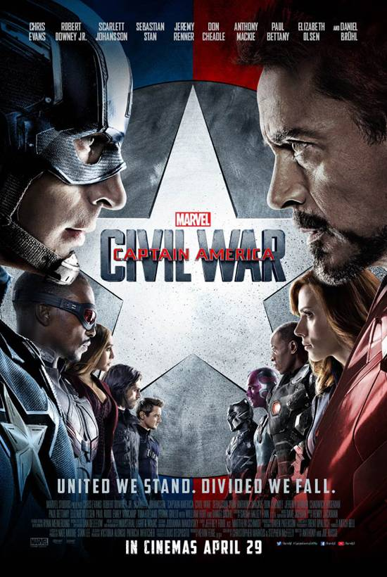 Marvel Festival: Captain America: Civil War Poster