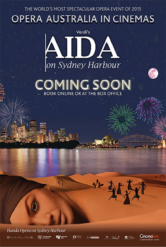Aida on Sydney Harbour Poster