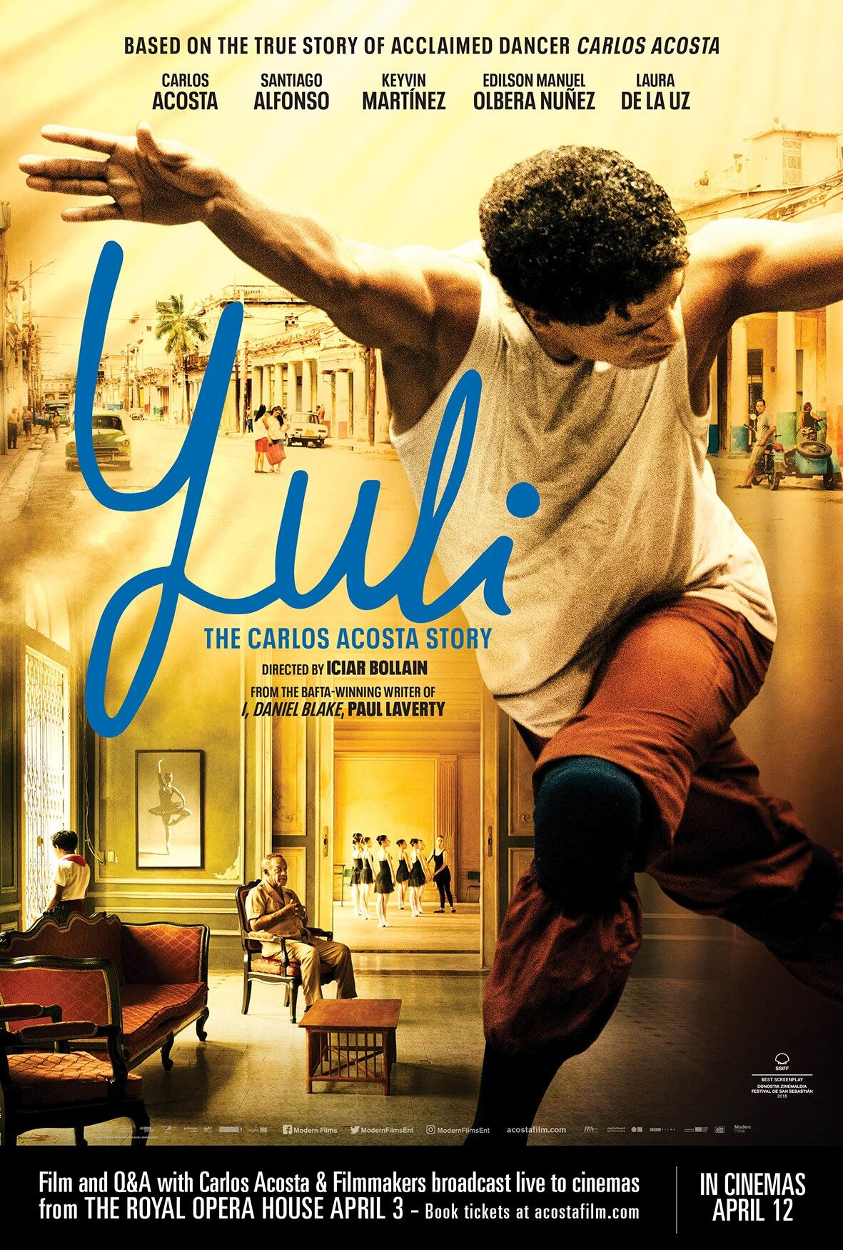 YULI The Carlos Acosta Story + Live Q&A from ROH Poster