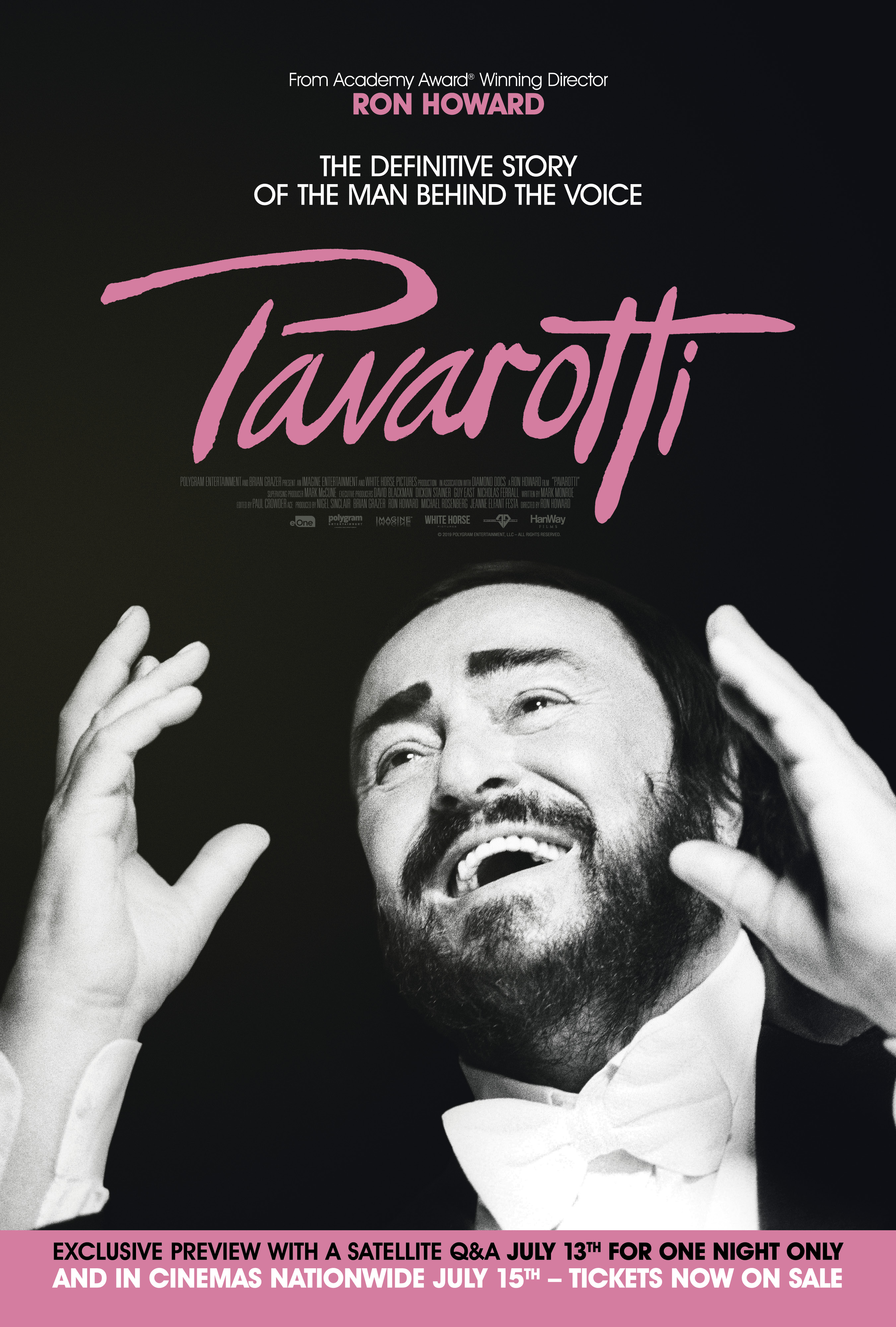 Pavarotti + Satellite Q&A With Exclusive Content Poster