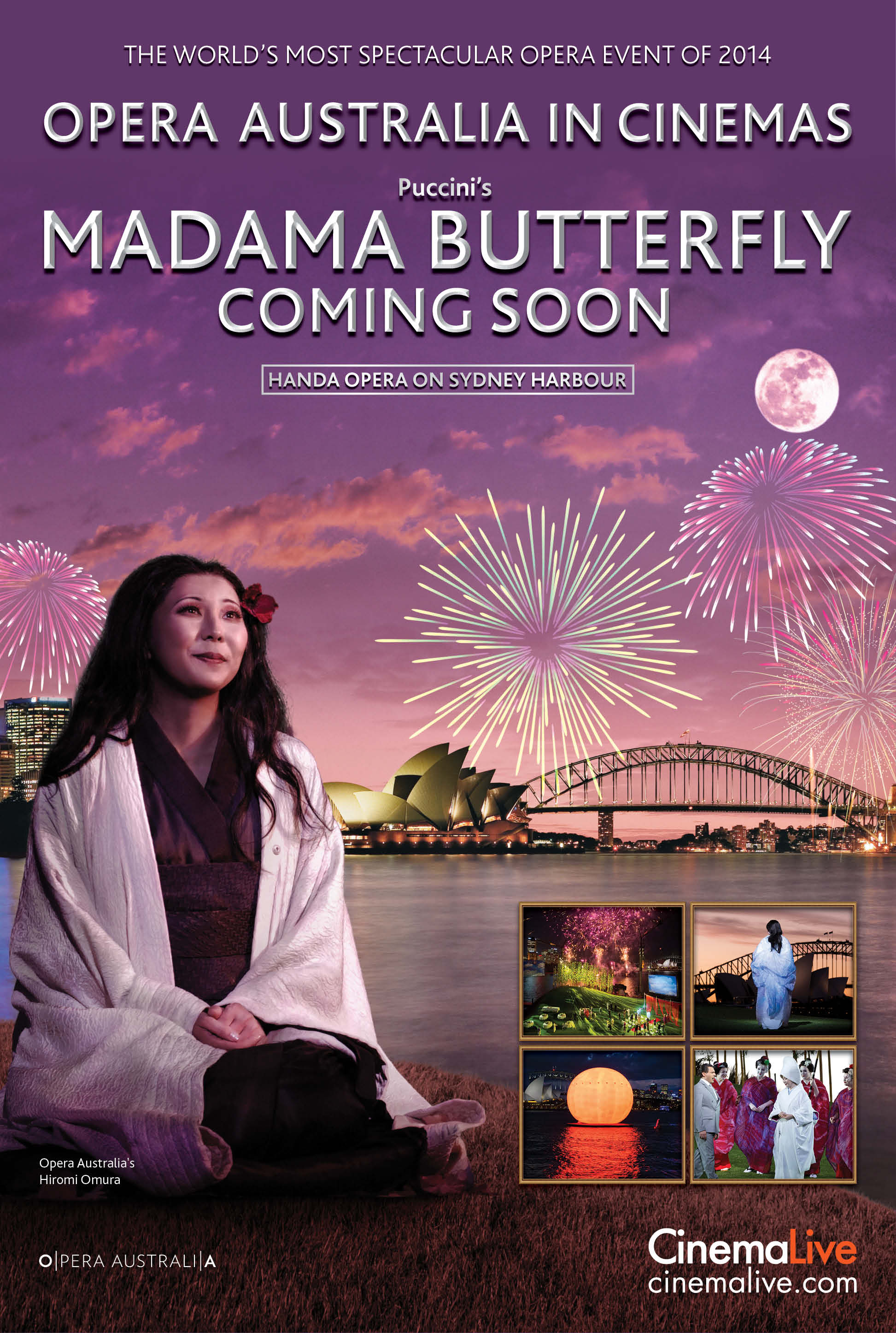 Madama Butterfly on Sydney Harbour Poster