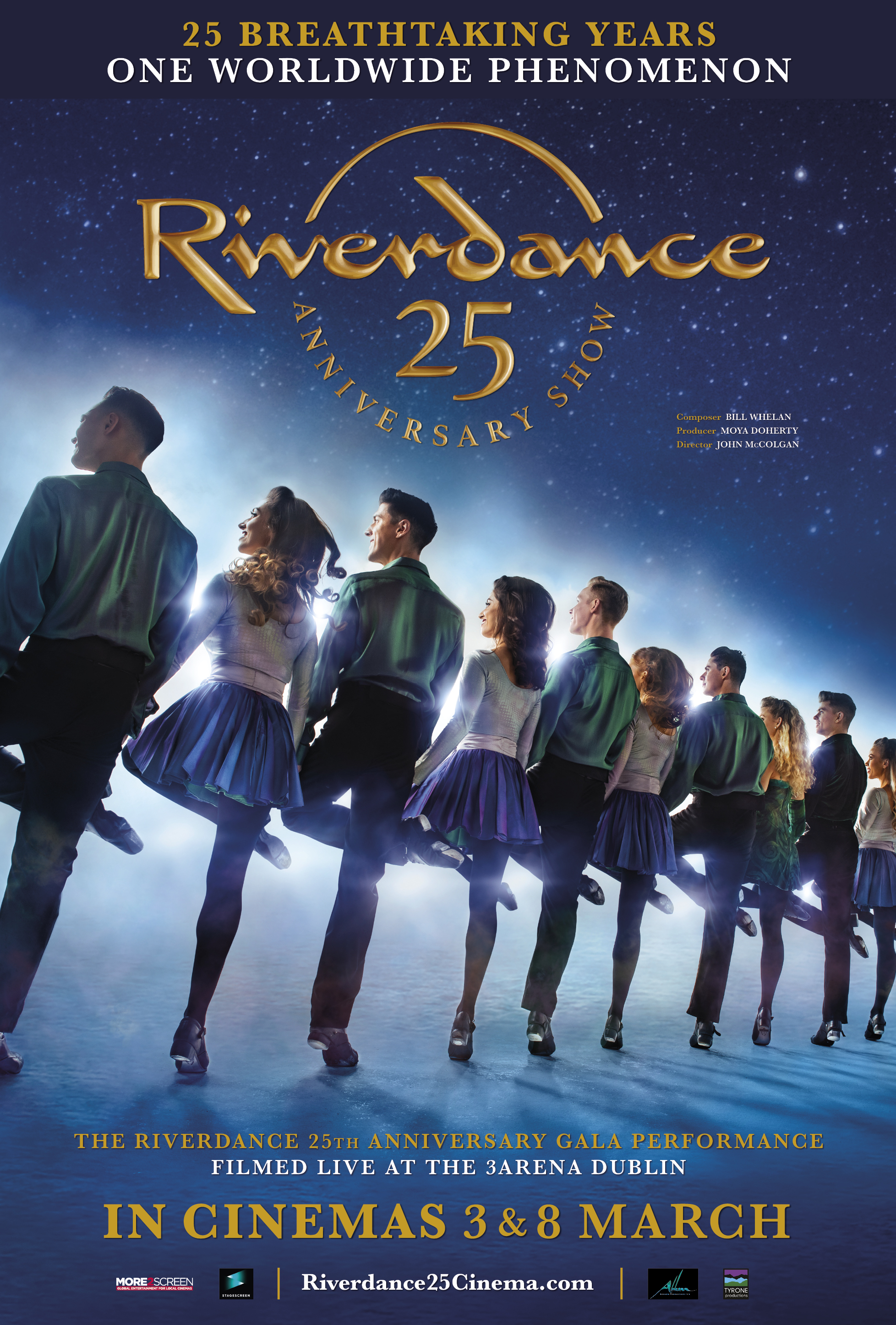 Riverdance 25th Anniversary Show Poster