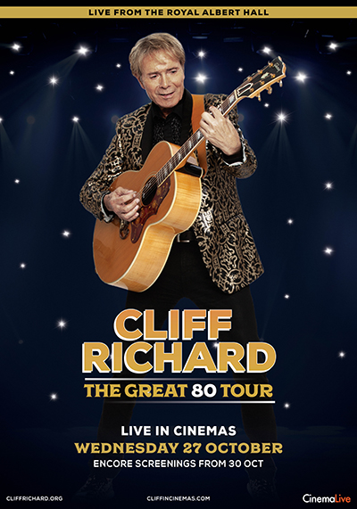 Cliff Richard – The Great 80 Tour Poster